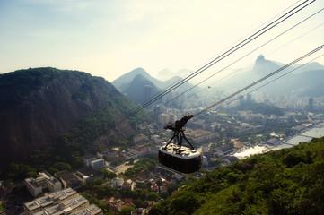 Sugarloaf Pao de Acucar Mountain Cable Car Rio Skyline Wall mural