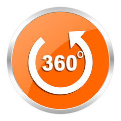 panorama orange glossy icon