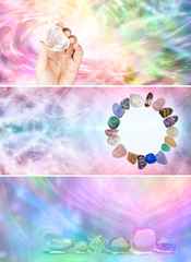 3 x Rainbow Crystal Healing website banners
