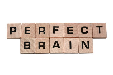 Phrase perfect brain made with tiles