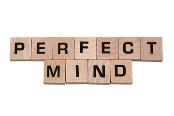 Phrase perfect mind made with tiles