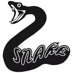 Snake Logo Design Schlange Böse Beißen