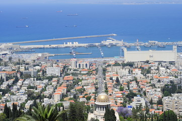 The Bahai Garden in Haifa, Israel