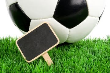 Fußball mit Schild