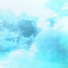 Cyan cloud background