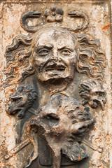 Medusa Relief an einem alten Haus in Verona