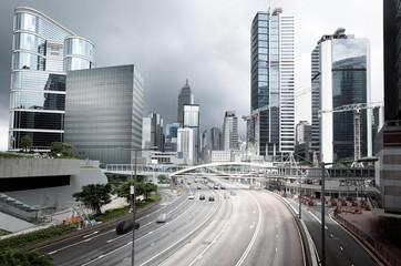 Fototapete - traffic in Hong Kong