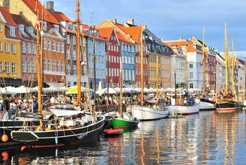 Copenhagen,  Nyhavn harbor