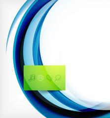 Vector colorful swirl motion design concept
