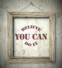 Believe you can do it in old wooden frame on wall