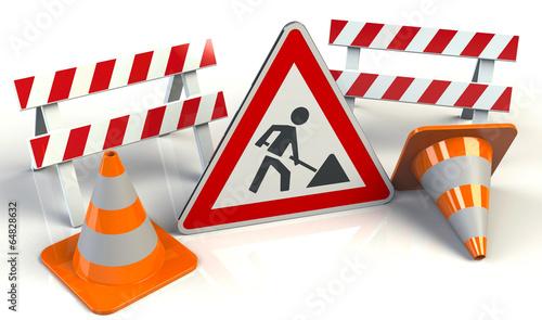 Baustelle schild clipart  Baustelle Schild Stop