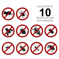 Collection of 10 parasites