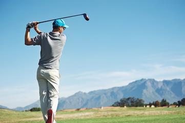 Poster Golf golf tee shot