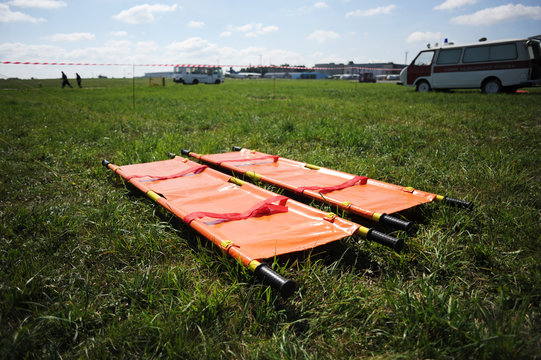 Stretcher for carrying of wounded people