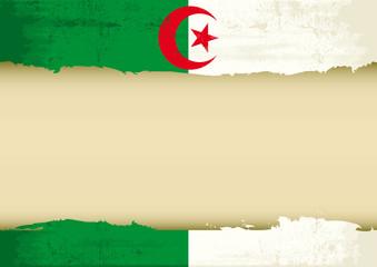 Algerian scrathed flag