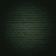 Green dark brick wall