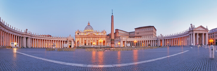 Photo sur Plexiglas Rome Panoramic view of Vatican city, Rome.