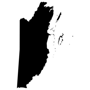 High detailed vector map - Belize.