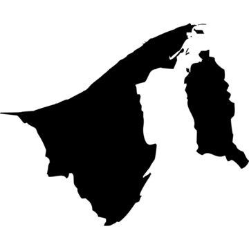 High detailed vector map - Brunei.