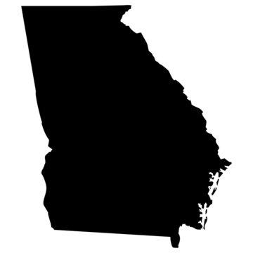 High detailed vector map - Georgia.