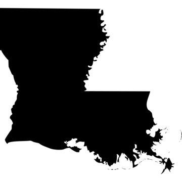 High detailed vector map - Louisiana.