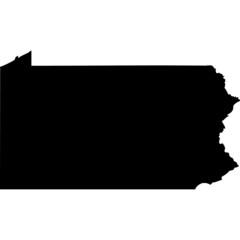 High detailed vector map - Pennsylvania.