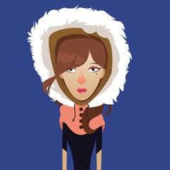 Beautiful girl in winter