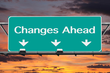 Changes Ahead Freeway Road Sign
