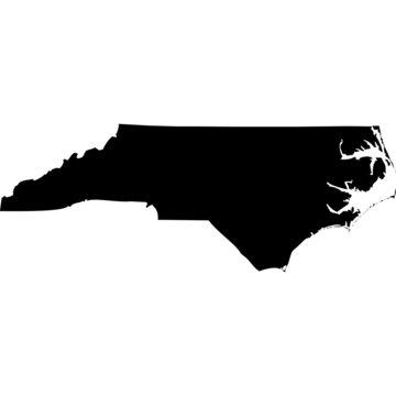 High detailed vector map - North Carolina.