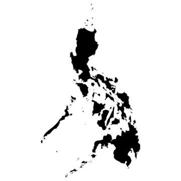 High detailed vector map - Philippines.