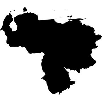 High detailed vector map - Venezuela.
