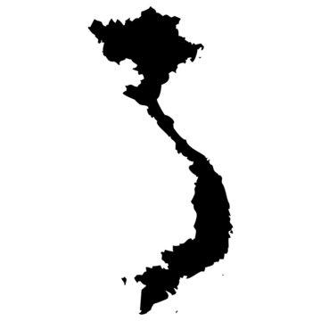 High detailed vector map - Vietnam.