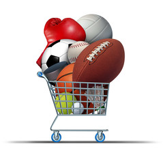 Fototapete - Sports Equipment Shopping