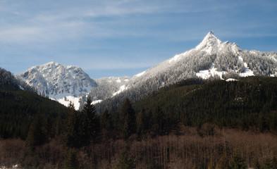 Pointed Ridge Top Cascade Mountain Range North Cascades WA