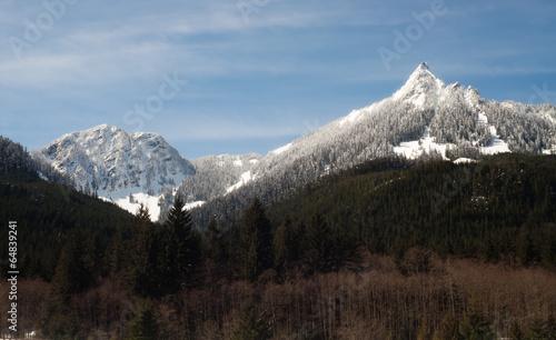 Wall mural Pointed Ridge Top Cascade Mountain Range North Cascades WA