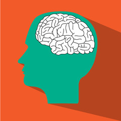 head and brain vector icon
