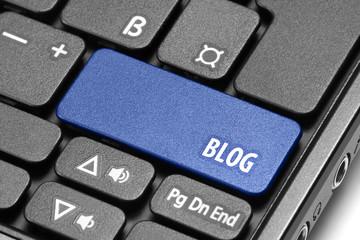 BLOG. Blue hot key on computer keyboard