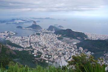 Bird's eye view to Rio de Janeiro