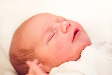 sleeping newborn baby in the hospital