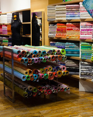 tissue shop with fabrics