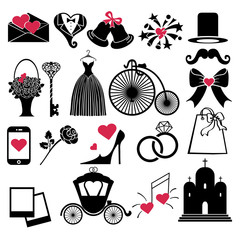 Vector Wedding Design  icons for Web and Mobile