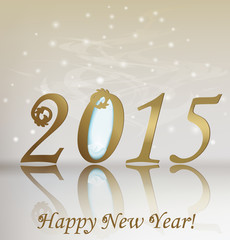 New 2015 year greeting card. Vector illustration