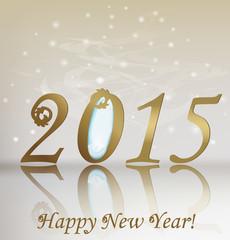 New 2015 year greeting card. Illustration