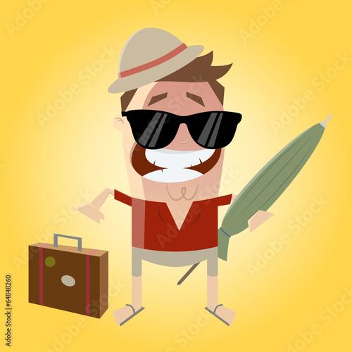 Urlaub Koffer Packen Sonnenschirm Reise Stockfotos Und Lizenzfreie