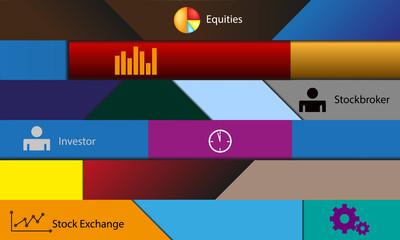 illustration theme stock exchange