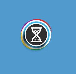 Modern stylish colors hourglass web icon design element.