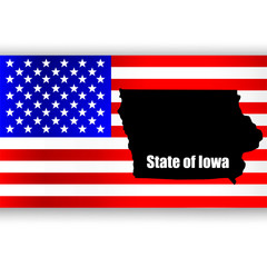 Map of the U.S. state of Iowa