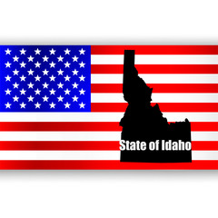 Map of the U.S. state of Idaho