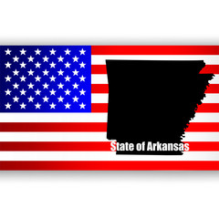Map of the U.S. state of Arkansas