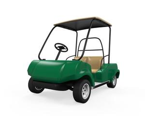 Golf Car Isolated